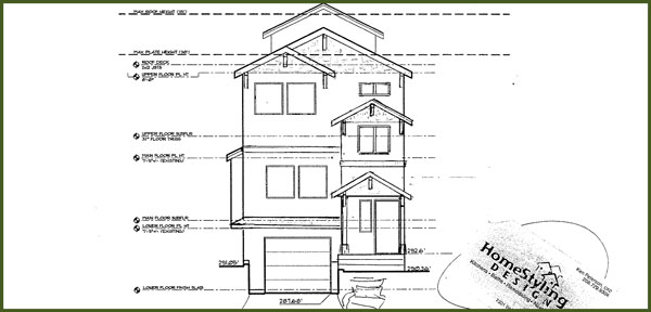 Blueprint drawing of remodel by HomeStyling Design